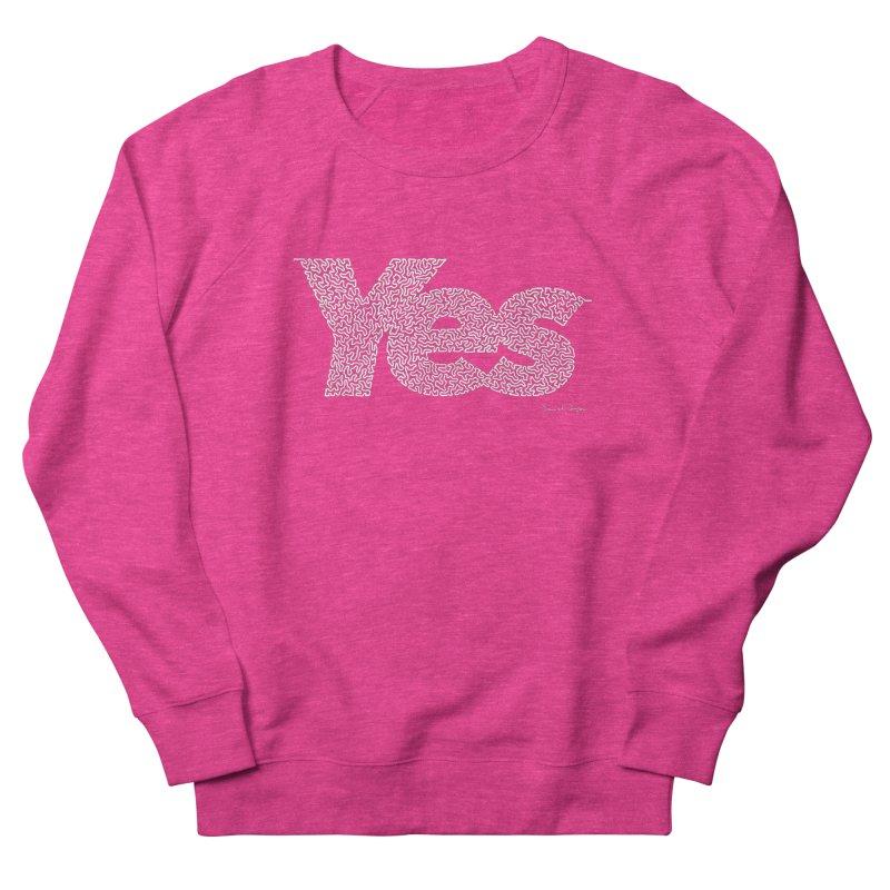 Yes (For Dark Background) Men's French Terry Sweatshirt by Daniel Dugan's Artist Shop