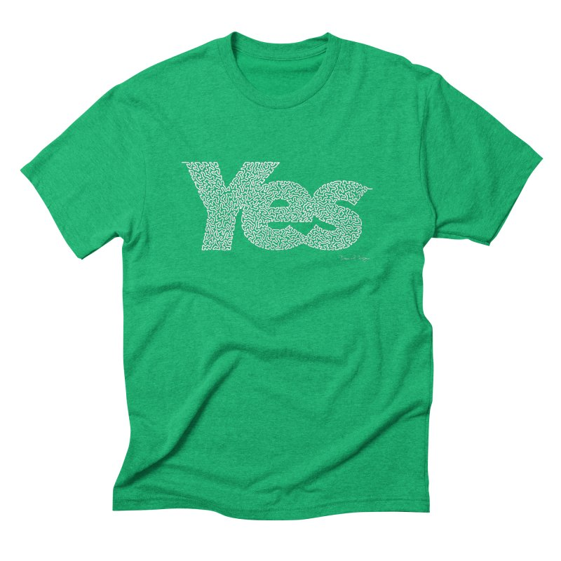 Yes (For Dark Background) Men's Triblend T-Shirt by Daniel Dugan's Artist Shop
