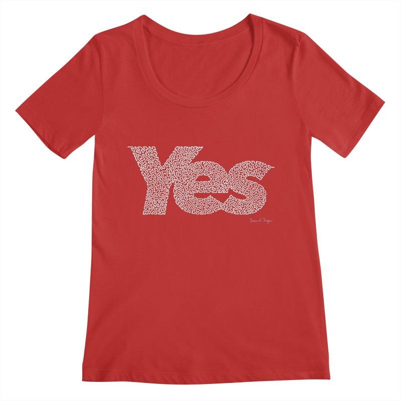 Yes (For Dark Background) Women's Regular Scoop Neck by Daniel Dugan's Artist Shop