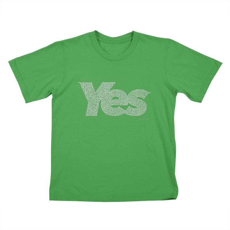Yes (For Dark Background) Kids T-Shirt by Daniel Dugan's Artist Shop