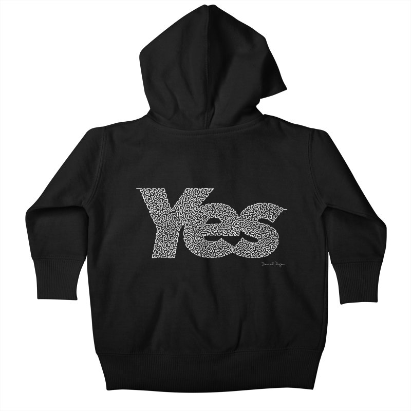 Yes (For Dark Background) Kids Baby Zip-Up Hoody by Daniel Dugan's Artist Shop