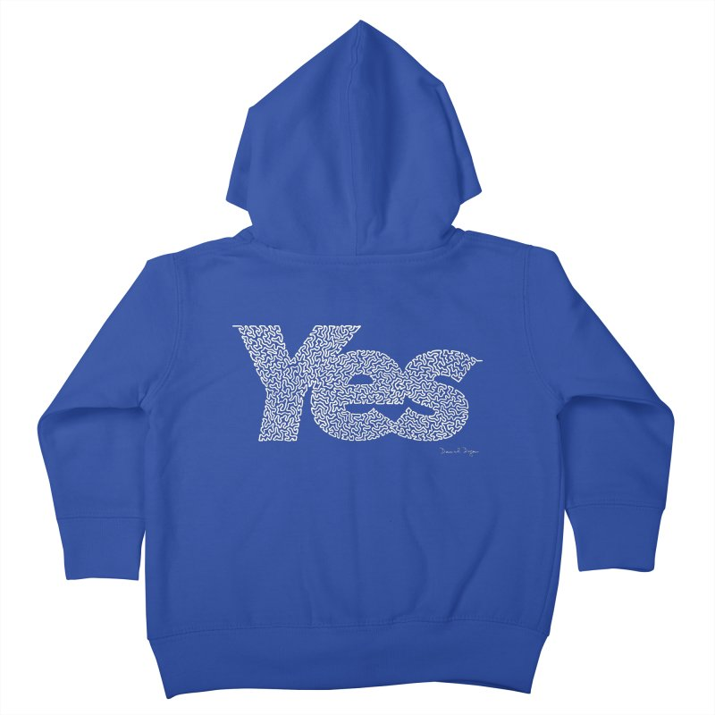 Yes (For Dark Background) Kids Toddler Zip-Up Hoody by Daniel Dugan's Artist Shop