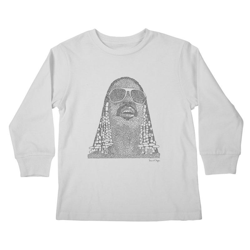 Stevie Wonder Kids Longsleeve T-Shirt by Daniel Dugan's Artist Shop