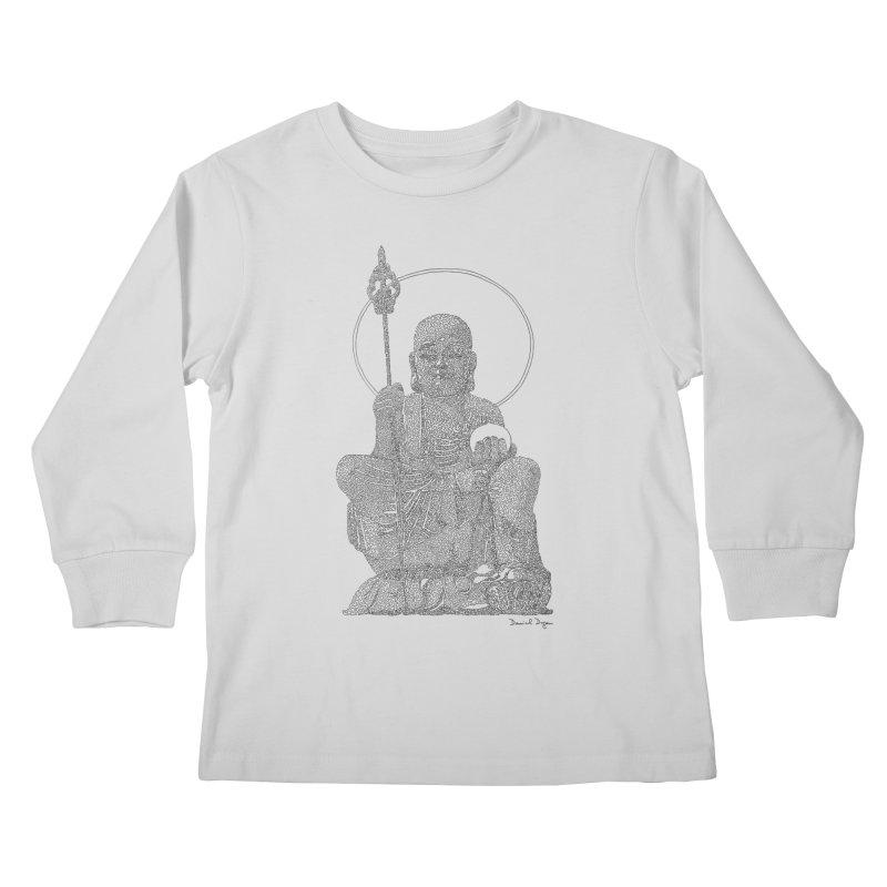 Buddha (Ksitigarbha) Kids Longsleeve T-Shirt by Daniel Dugan's Artist Shop