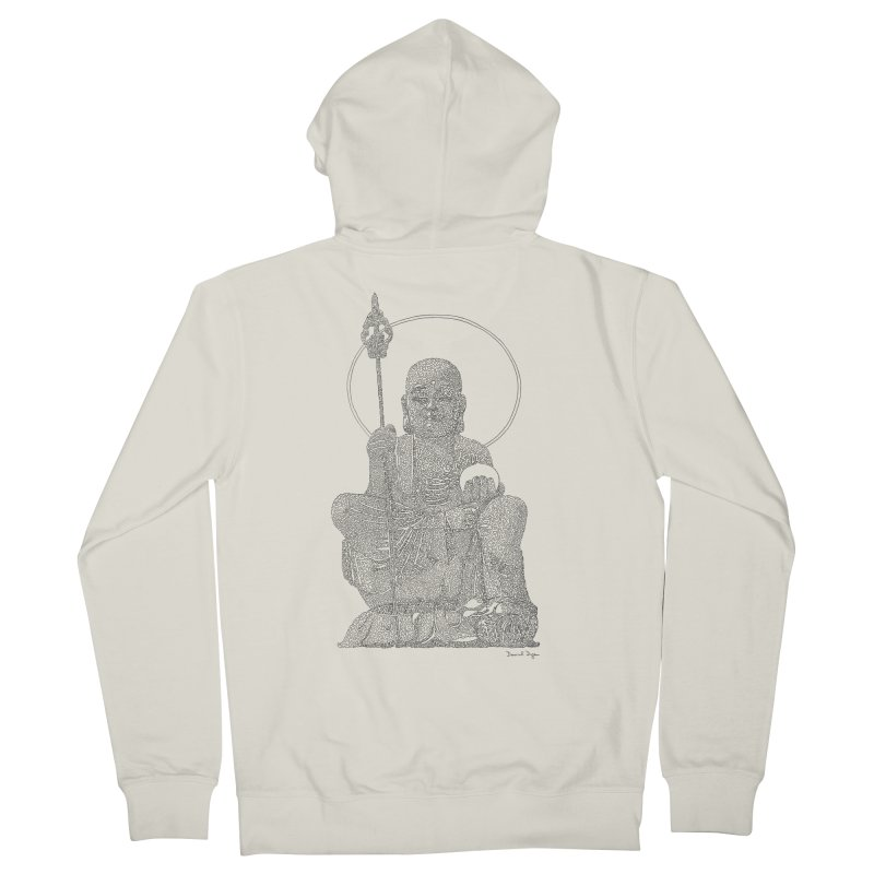 Ksitigarbha Men's Zip-Up Hoody by Daniel Dugan's Artist Shop