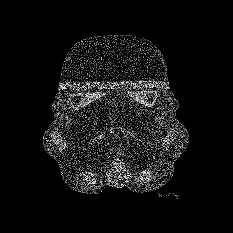Storm Trooper (For Dark Backgrounds) Accessories Skateboard by Daniel Dugan's Artist Shop