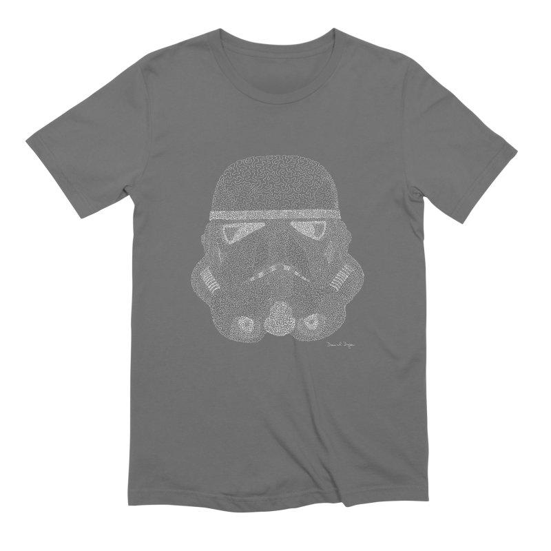 Storm Trooper (For Dark Backgrounds) Men's T-Shirt by Daniel Dugan's Artist Shop