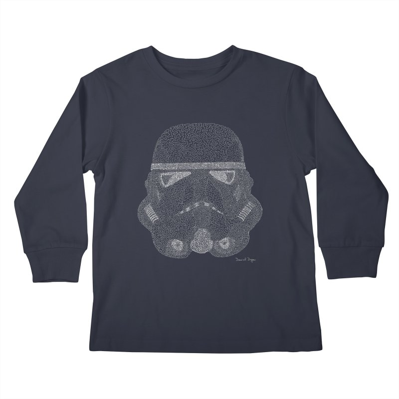 Storm Trooper (For Dark Backgrounds) Kids Longsleeve T-Shirt by Daniel Dugan's Artist Shop