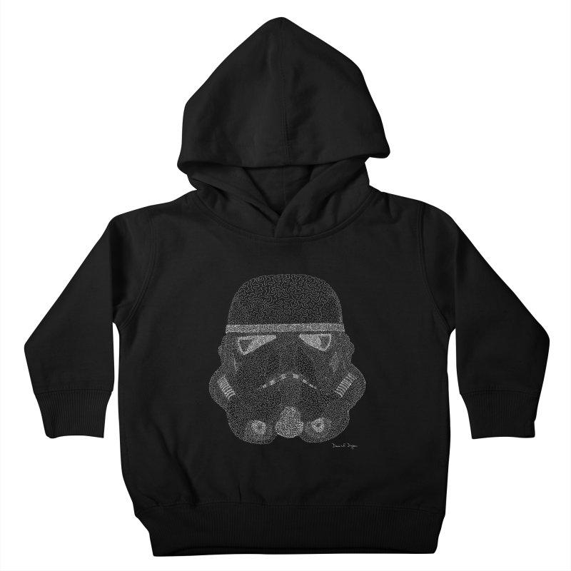 Storm Trooper (For Dark Backgrounds) Kids Toddler Pullover Hoody by Daniel Dugan's Artist Shop
