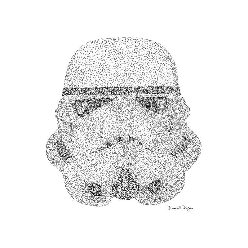 Storm Trooper Men's Zip-Up Hoody by Daniel Dugan's Artist Shop