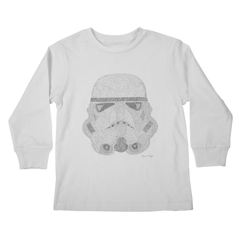 Storm Trooper Kids Longsleeve T-Shirt by Daniel Dugan's Artist Shop
