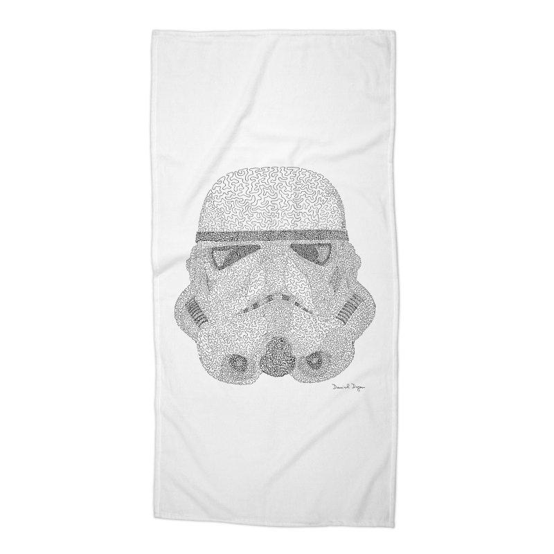 Storm Trooper Accessories Beach Towel by Daniel Dugan's Artist Shop