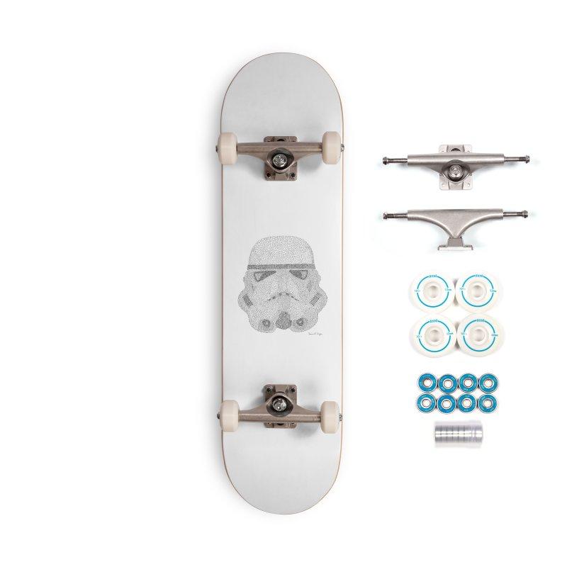 Storm Trooper Accessories Skateboard by Daniel Dugan's Artist Shop
