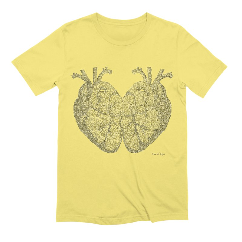 Heart to Heart Men's T-Shirt by Daniel Dugan's Artist Shop