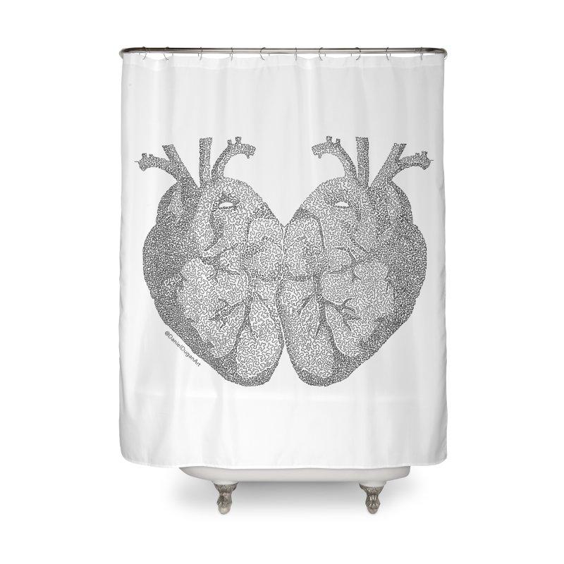 Heart to Heart Home Shower Curtain by Daniel Dugan's Artist Shop