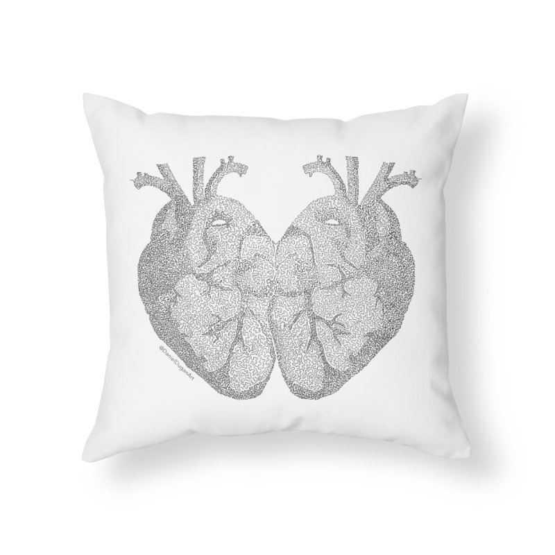 Heart to Heart Home Throw Pillow by Daniel Dugan's Artist Shop