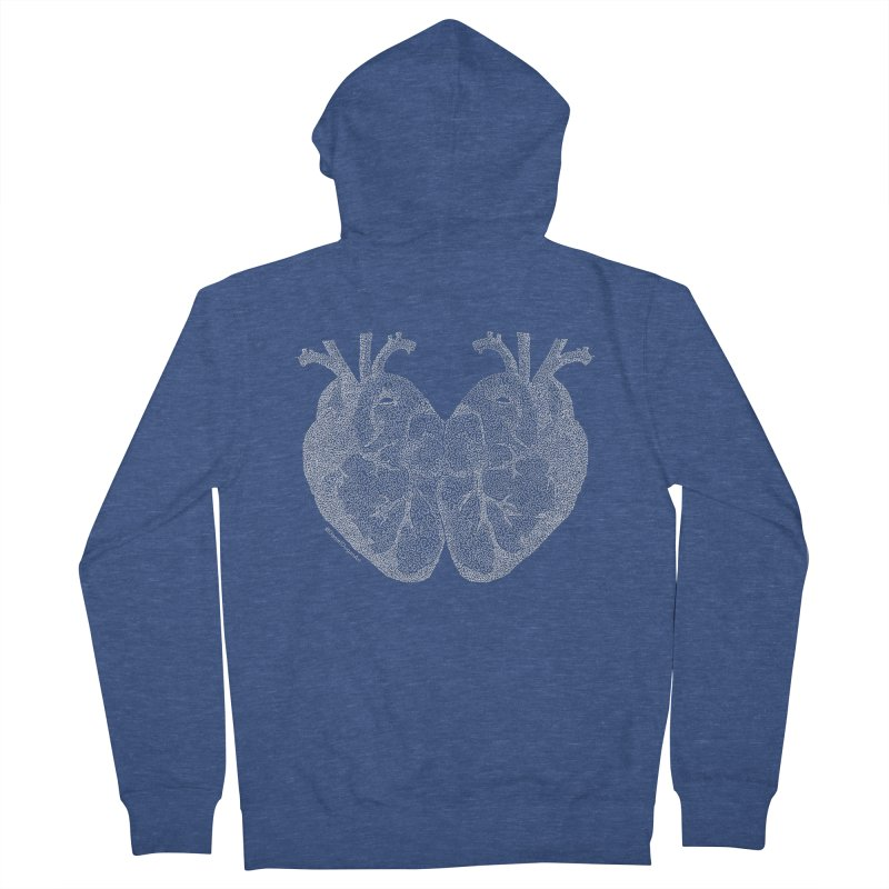 Heart to Heart (For Dark Background) Men's Zip-Up Hoody by Daniel Dugan's Artist Shop