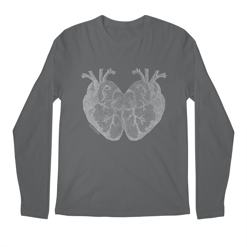 Heart to Heart (For Dark Background) Men's Longsleeve T-Shirt by Daniel Dugan's Artist Shop