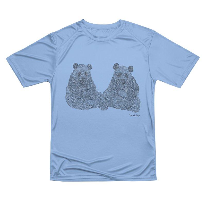 Pandas Women's T-Shirt by Daniel Dugan's Artist Shop