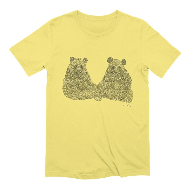 Pandas Men's T-Shirt by Daniel Dugan's Artist Shop