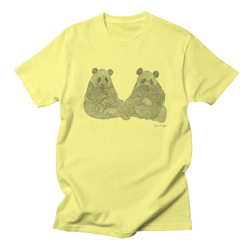 Pandas Men's T-Shirt by Daniel Dugan's Artist Shop