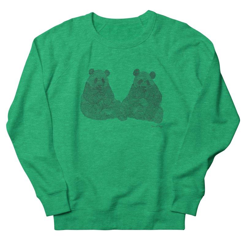 Pandas Men's Sweatshirt by Daniel Dugan's Artist Shop