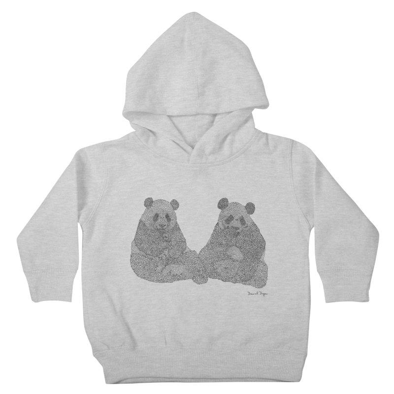 Pandas Kids Toddler Pullover Hoody by Daniel Dugan's Artist Shop