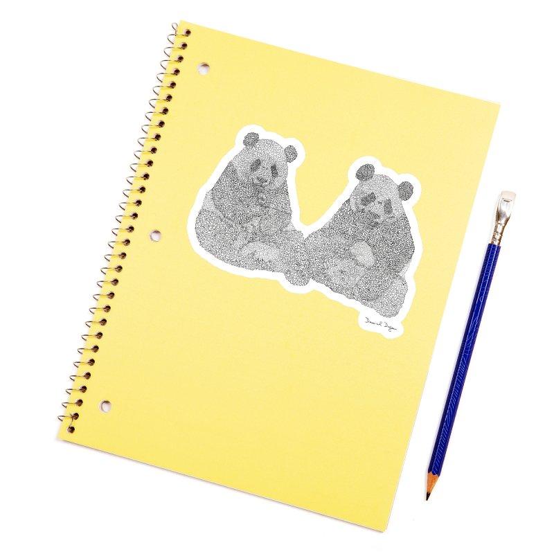 Pandas Accessories Sticker by Daniel Dugan's Artist Shop