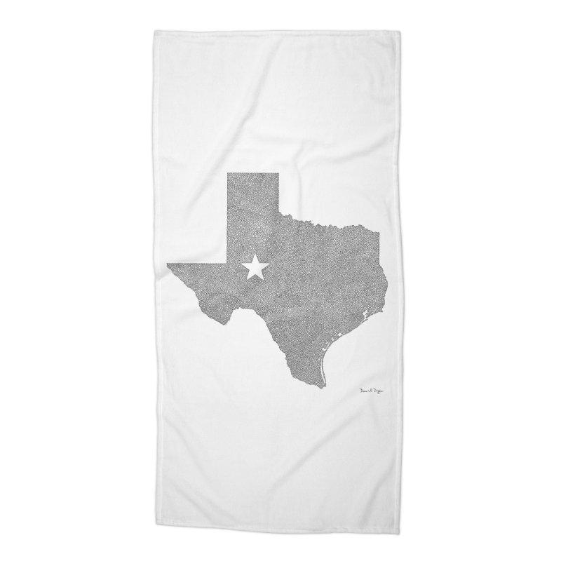 Texas Accessories Beach Towel by Daniel Dugan's Artist Shop