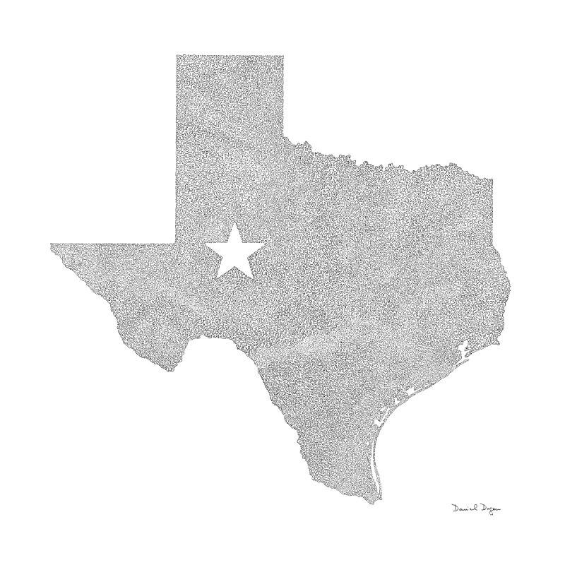 Texas Men's T-Shirt by Daniel Dugan's Artist Shop