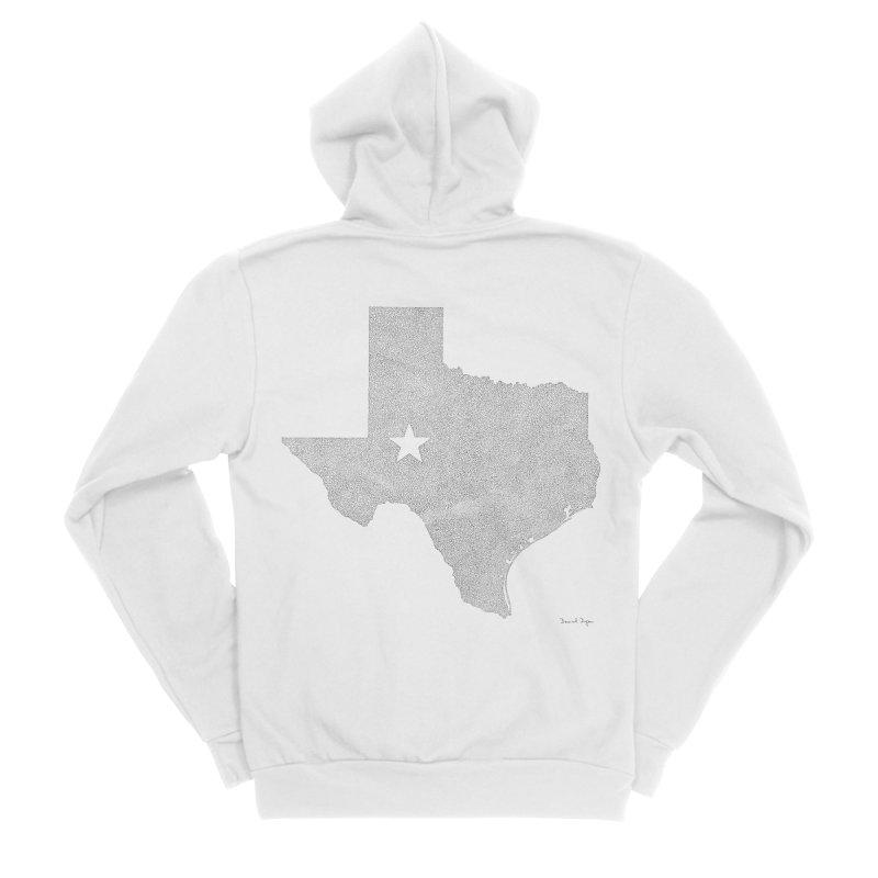 Texas Women's Zip-Up Hoody by Daniel Dugan's Artist Shop