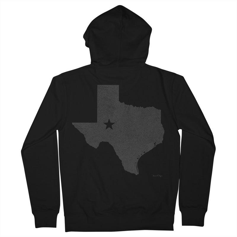 Texas Men's Zip-Up Hoody by Daniel Dugan's Artist Shop
