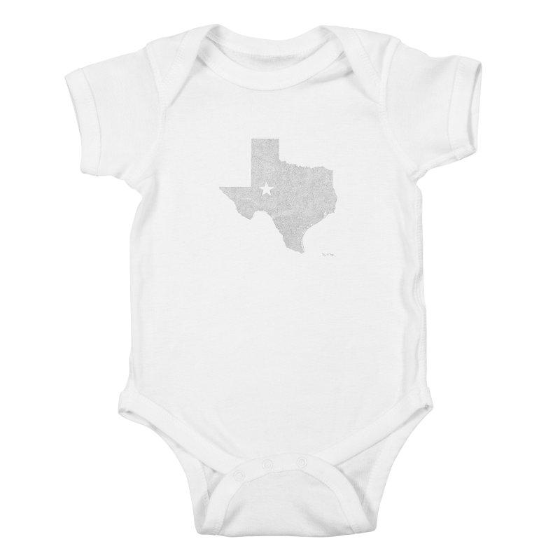 Texas Kids Baby Bodysuit by Daniel Dugan's Artist Shop