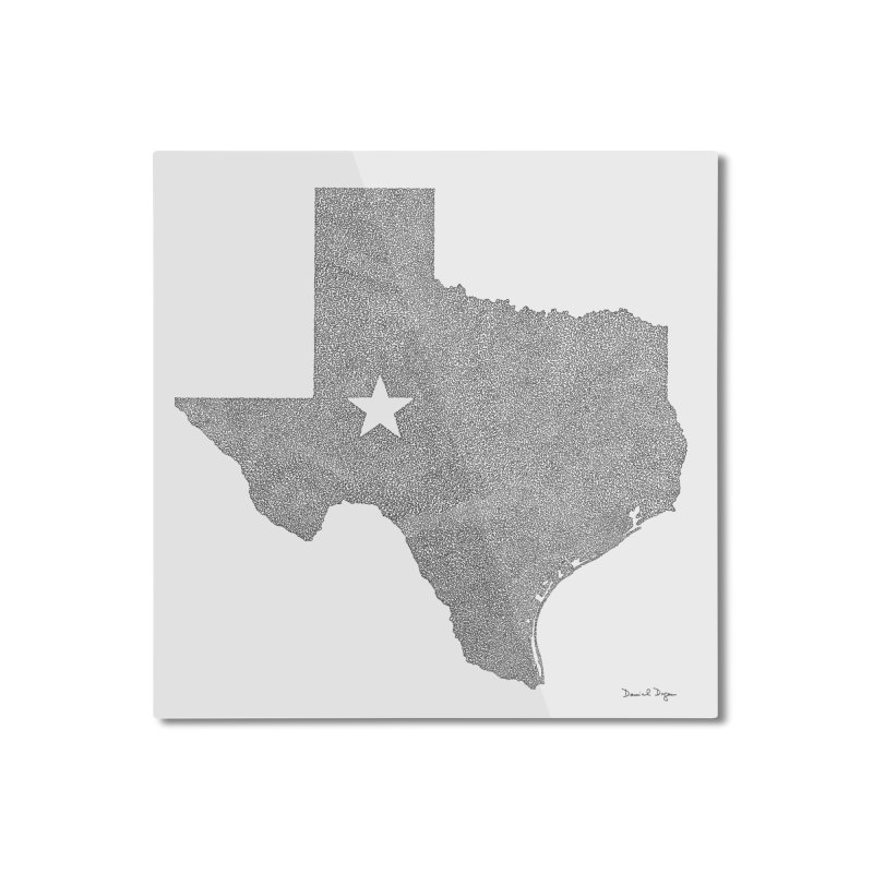 Texas Home Mounted Aluminum Print by Daniel Dugan's Artist Shop