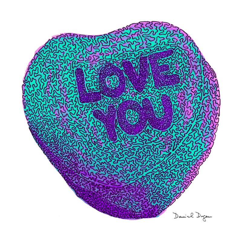 LOVE YOU Electric Mint Accessories Notebook by Daniel Dugan's Artist Shop