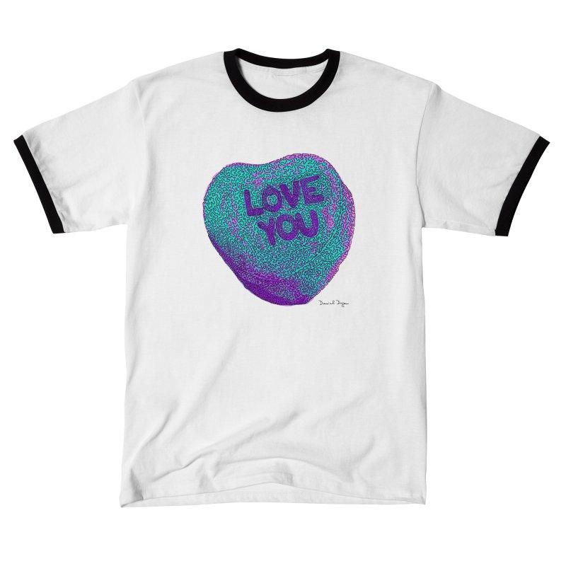 LOVE YOU Electric Mint Women's T-Shirt by Daniel Dugan's Artist Shop