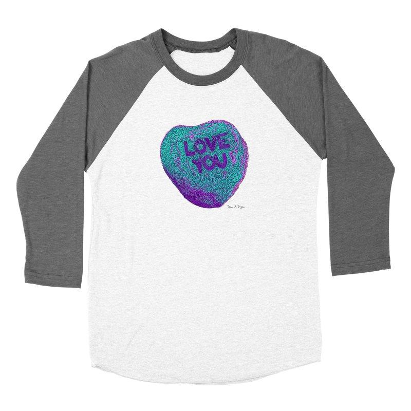 LOVE YOU Electric Mint Women's Longsleeve T-Shirt by Daniel Dugan's Artist Shop