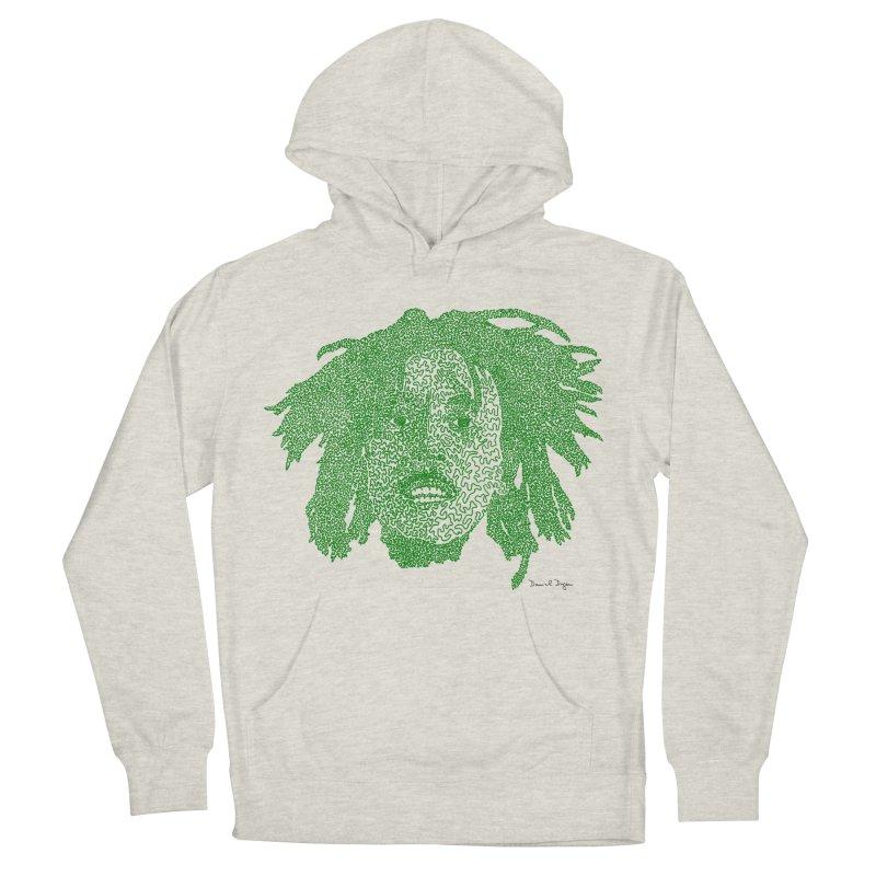 Bob Marley Green Women's Pullover Hoody by Daniel Dugan's Artist Shop
