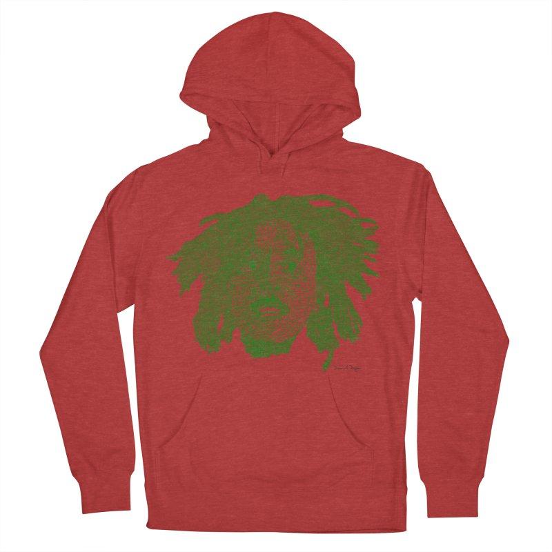 Bob Marley Green Men's Pullover Hoody by Daniel Dugan's Artist Shop