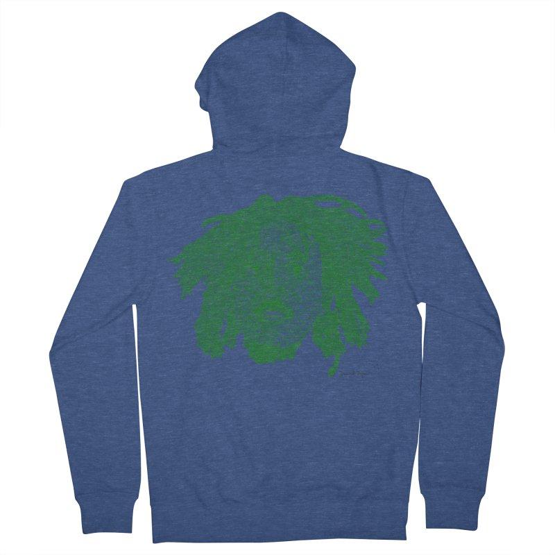 Bob Marley Green Men's Zip-Up Hoody by Daniel Dugan's Artist Shop
