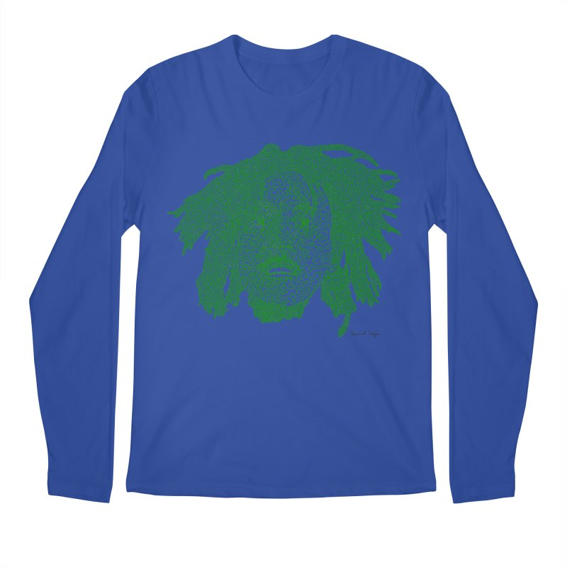 Bob Marley Green Men's Longsleeve T-Shirt by Daniel Dugan's Artist Shop