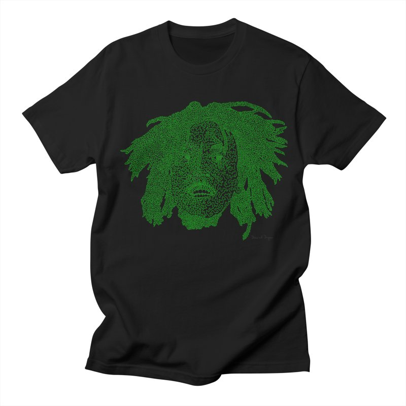 Bob Marley Green Women's Unisex T-Shirt by Daniel Dugan's Artist Shop