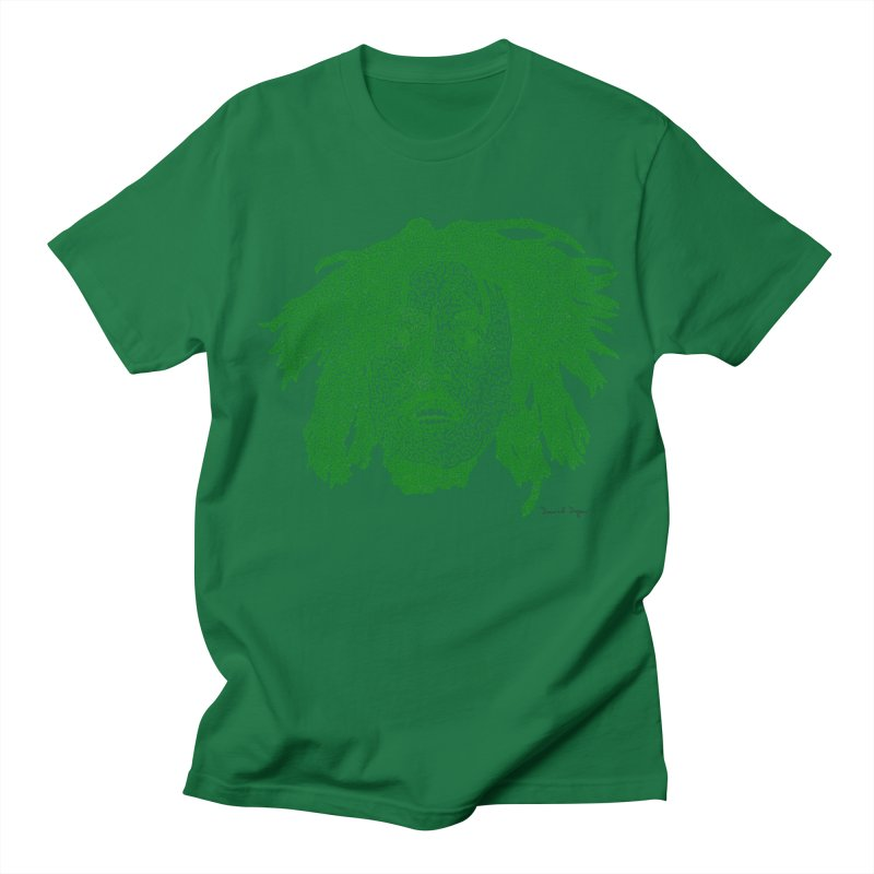 Bob Marley Green Men's T-shirt by Daniel Dugan's Artist Shop