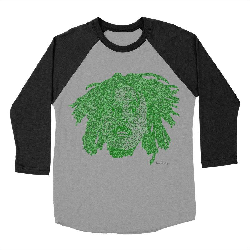 Bob Marley Green Women's Baseball Triblend T-Shirt by Daniel Dugan's Artist Shop