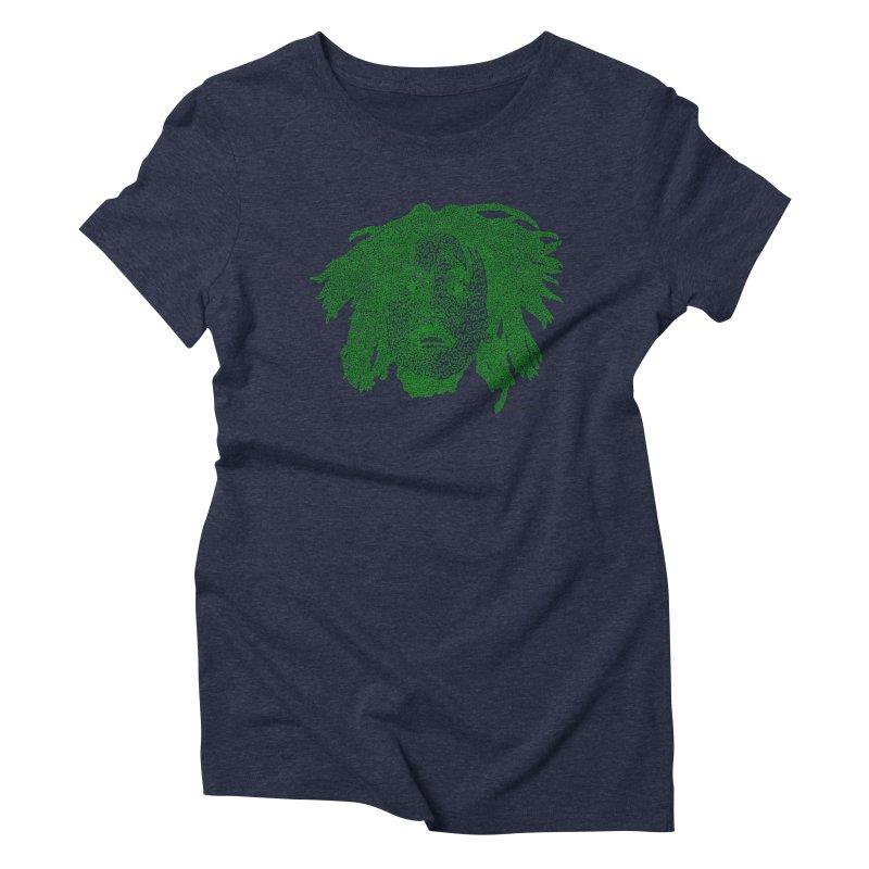 Bob Marley Green Women's Triblend T-shirt by Daniel Dugan's Artist Shop