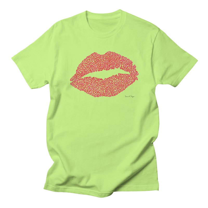 Kisses are the Answer (Red) Women's Unisex T-Shirt by Daniel Dugan's Artist Shop