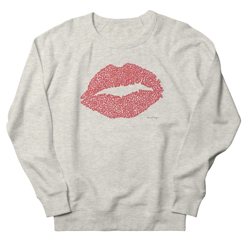 Kisses are the Answer (Red) Women's Sweatshirt by Daniel Dugan's Artist Shop