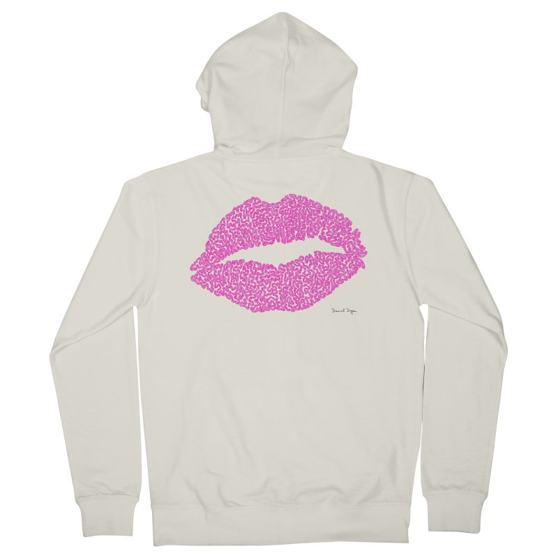 Kisses are the Answer (Pink) Women's Zip-Up Hoody by Daniel Dugan's Artist Shop