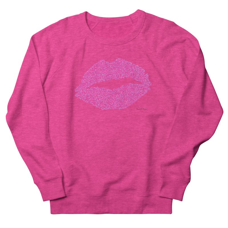 Kisses are the Answer (Pink) Men's Sweatshirt by Daniel Dugan's Artist Shop