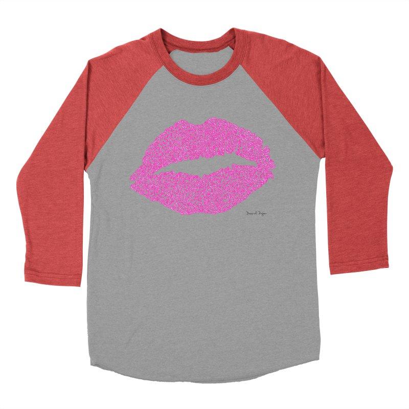 Kisses are the Answer (Pink) Women's Baseball Triblend T-Shirt by Daniel Dugan's Artist Shop